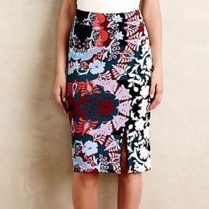 Anthropologie Maeve Tearoom Floral Pencil Skirt